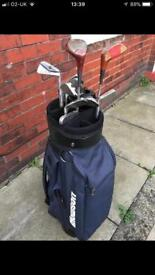 Set of golf clubs and bag £15 no offers collection only