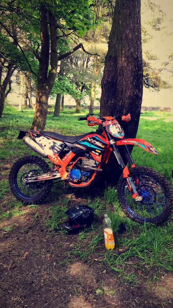 Road legal ktm 250 sxf 2007 ready to ride may swap px