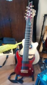 Ibanez RG Iron Gear 8 string guitar with active EMG 808 pickups