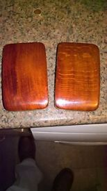 ANTIQUE PAIR OF WOODEN CLOTHES BRUSHES