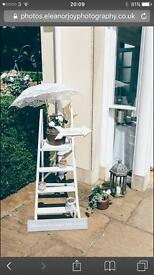 White painted step ladder