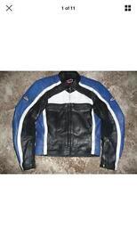 Leather motorcycle jacket motorbike hein gerickle