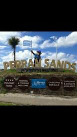 Caravan to rent on Perran Sands Cornwall