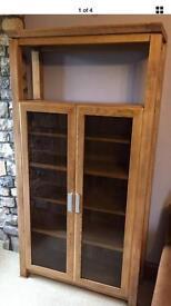 Oak book cabinet