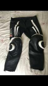 Mens Size 38 Bike Leather Trousers