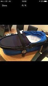 I candy peach 3 twin carrycot