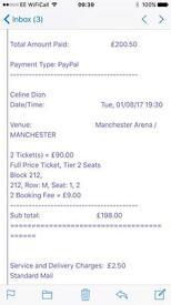 Celine Dion Concert Ticket Swap