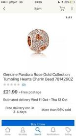 Genuine pandora rose gold charm