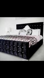 **BRAND NEW LUXURY DIMANTE BED WITH MATTRESS