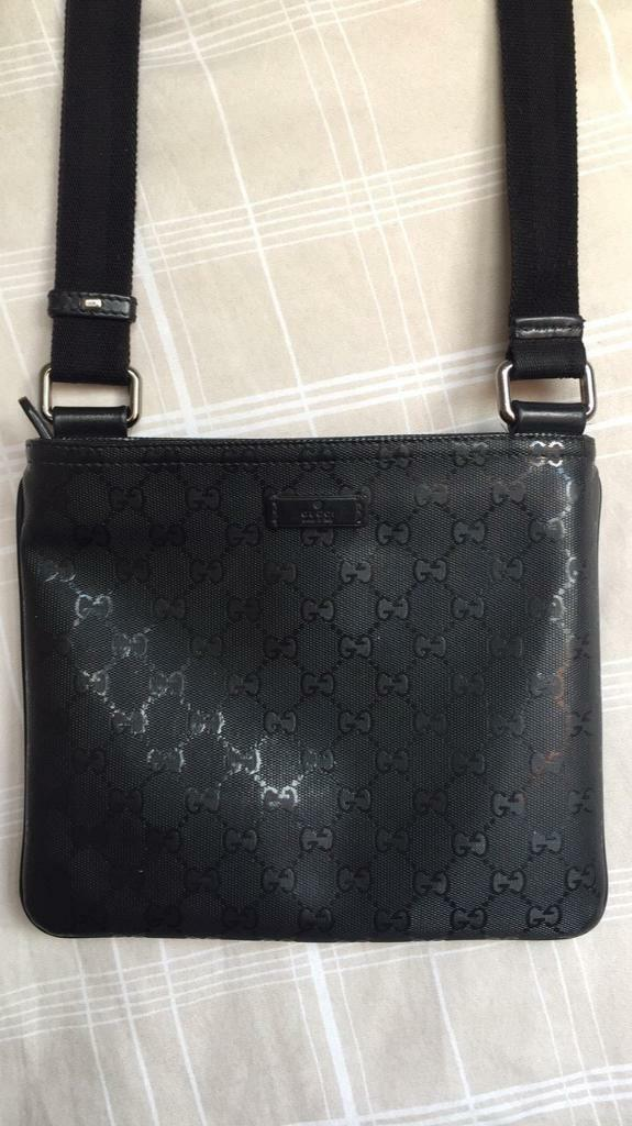 Black Gucci Gg Messenger Man Bag Pouch In Great Barr