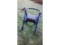 Days Four Wheel Rollator Walker - Blue - less than 12 months' old