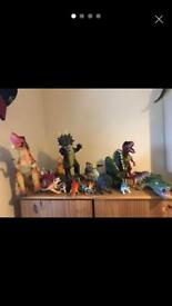 Collection of dinosaur toys