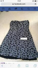 Size 14 dress black and grey
