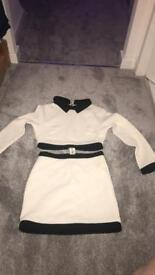Black & White missguided connected 2 piece