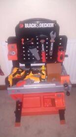 Toy Black and Decker freestanding workbench