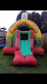 Bouncy castle combo with slide