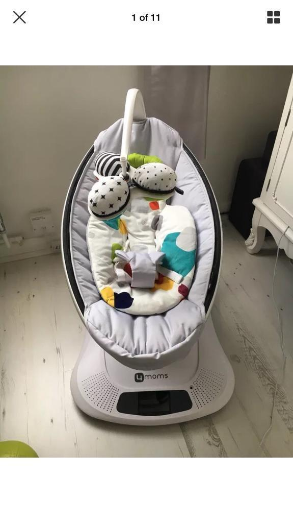 4moms Mamaroo Baby Rocker Bouncer Chair Classic Grey In Portsmouth