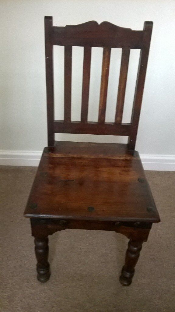 """36x60"""" solid dining room table & chairs."""
