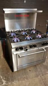 Garland Sunfire Cuisinier Poele 6 Ronds, Feux, 6 Burner Stove Gas Gaz PERFECT