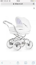 White bebcar magic pram