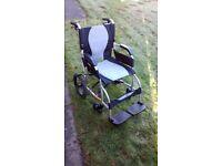 Karma Ergo Lite Series (KM-2501) Folding Manual Wheelchair - As New
