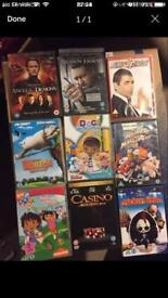 DVDs £1 each or 4 for £2