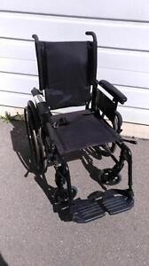 "#001  18"" wide  Invacare Patriot FOLDING Lightweight Aluminum Frame Wheelchair for ONLY $100"
