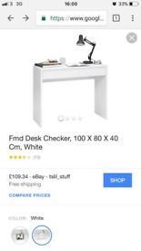 **BRAND NEW** White FMD Checker Desk