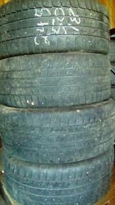 Four 245 50 18 winter tires 50% tread even wear no cracks not scalloped $100