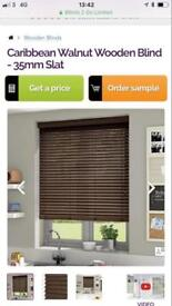 Wooden blinds - still boxed