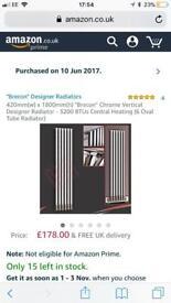 Nearly new vertical chrome designer radiator