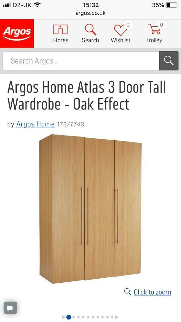 new concept 6a732 7b8c9 Argos Atlas Triple Wardrobe, disassembled, RRP £235 | in ...