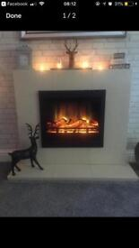 Marble surround and hearth