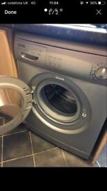 Washing machine silver