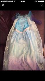 Girls frozen 7-8 years dress Elsa costume