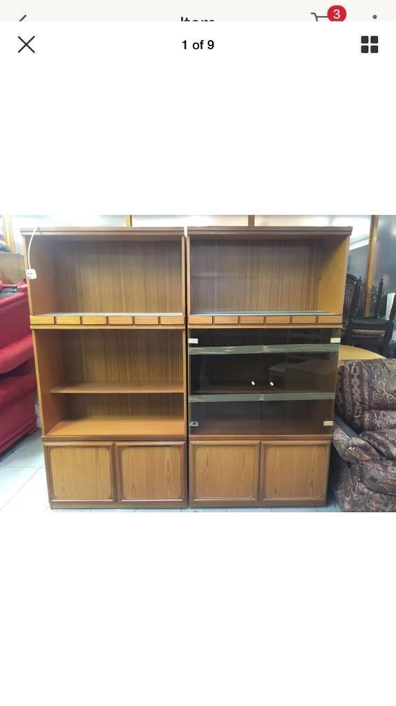 Danish style cabinets teak veneer £20 for The pair