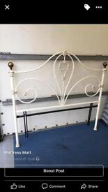 Vintage brass and cast iron double headboard only £75ono