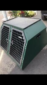 Trans K9 Dog Transit Box, Cage. (Double Door)