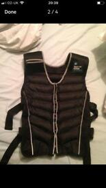 2 weight vest and training mat