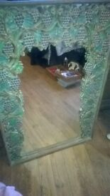 carved mirror 4ft by 3ft cost £200