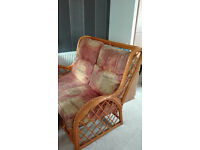 VINTAGE Cane Wicker Conservatory Furniture AS NEW Solid £100 ono
