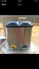 Brand new Charles Bentley 30L dual bin, dented