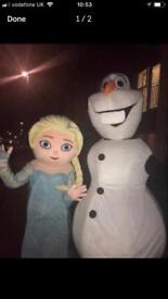 Olaf and Elsa mascots for sale !!