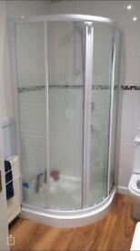 Bathroom shower cubicle