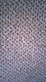 New beige and brown carpet size is 10 ft 4 ins x 3 ft 4 ins £14