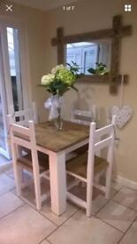 4 seater wooden table