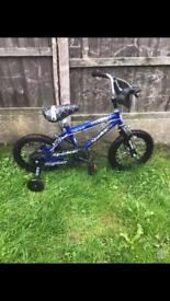 """SPIDER CREEPY CRAWLER BOYS BIKE, 14"""" WHEELS, fully working and good condition"""