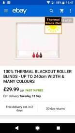 White Blackout roller blind