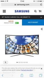 """Brand new Samsung 49"""" SMART curve TV"""