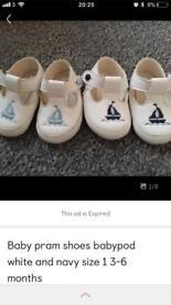 Baby boy soft pram shoes size 1
